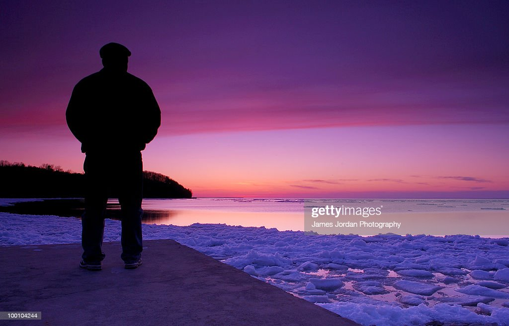 Self portrait at twilight : Foto de stock