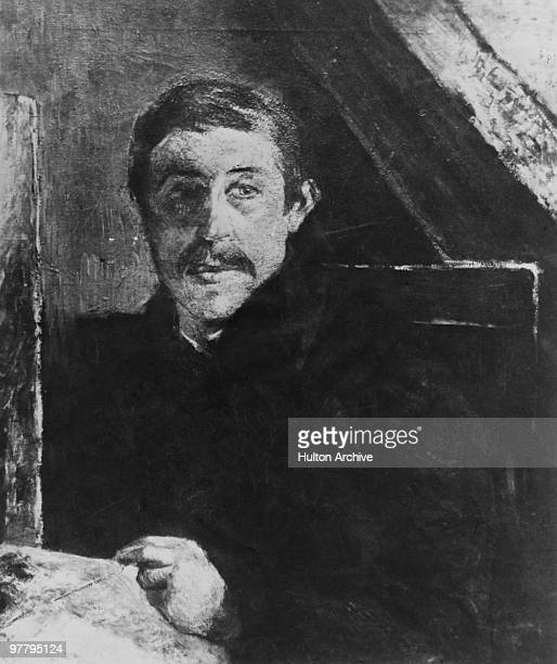 'Self Portrait Behind An Easel' by French Post-Impressionist painter Paul Gauguin , 1884.