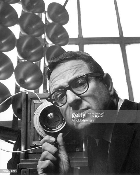 Self portrait by photographer Arnold Newman September 17 1964 in New York City