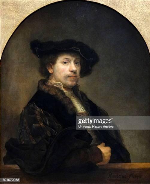 Self portrait by Rembrandt Harmenszoon van Rijn a Dutch painter and etcher Dated 17th Century