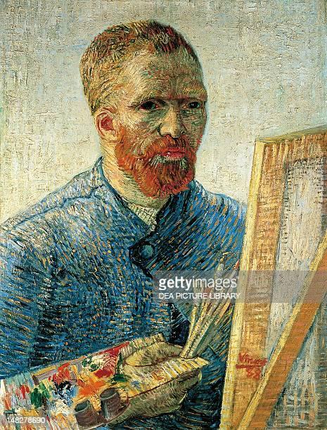 Self Portrait by Vincent van Gogh oil on canvas 65x50 cm Amsterdam Van Gogh Museum