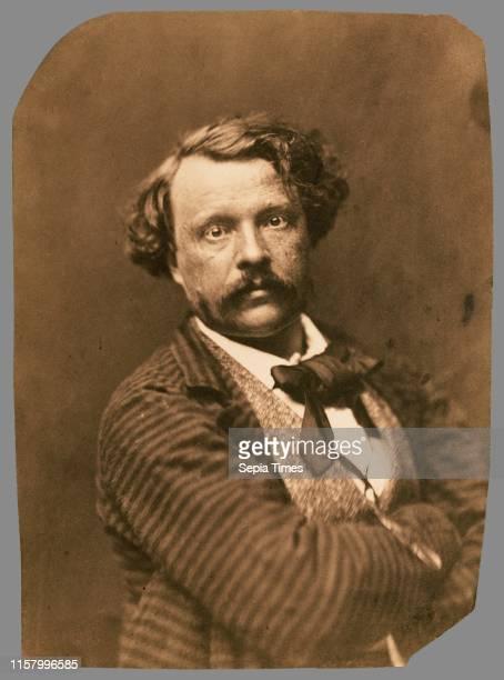 [Self portrait in striped coat Felix Nadar] Nadar [Gaspard Felix Tournachon] French 1820 1910 1856 1858 Salted paper print Image 181 x 133 cm
