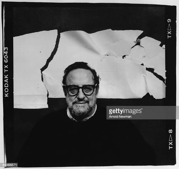 Self portrait of American photographer Arnold Newman taken in his studio New York New York October 19 1987