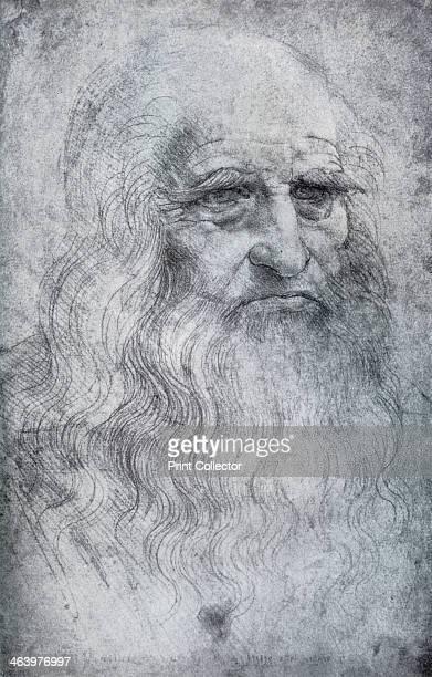 Self Portrait of Leonardo da Vinci c15121515 Found in the collection of the Biblioteca Reale in Turin A print from Leonardo da Vinci by Ludwig H...