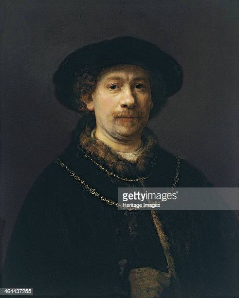 Self Portrait with Beret and Two Gold Chains ca 1642 Found in the collection of the ThyssenBornemisza Collections