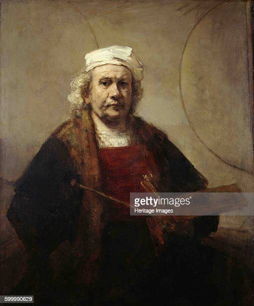 Self portrait with two circles ca 16651669 Found in the collection of Kenwood House Artist Rembrandt van Rhijn