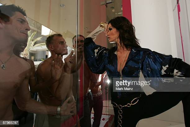 Self proclaimed World's First Super Model Janice Dickinson hosts client castings in her brand new modeling agency at Hollywood and Highland on April...