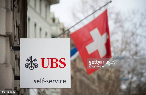 UBS 'self service' sign