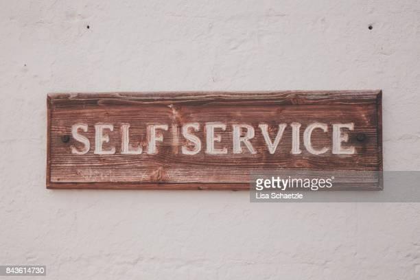 self service sign - セルフサービス ストックフォトと画像