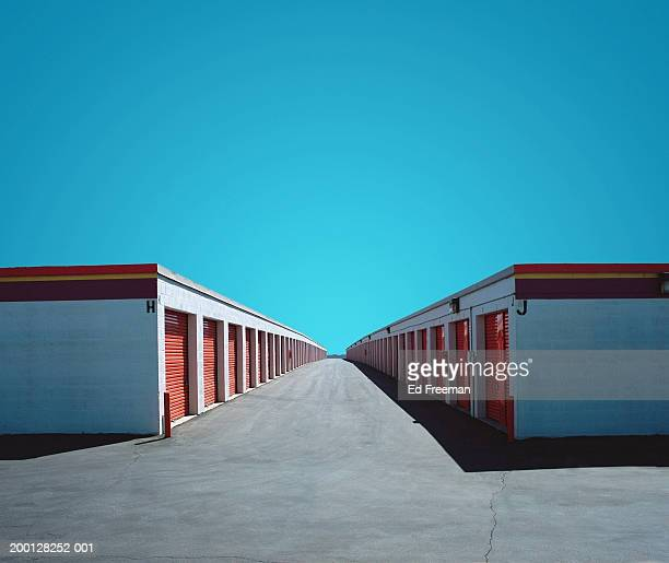 self storage units (digital enhancement) - self storage stock pictures, royalty-free photos & images