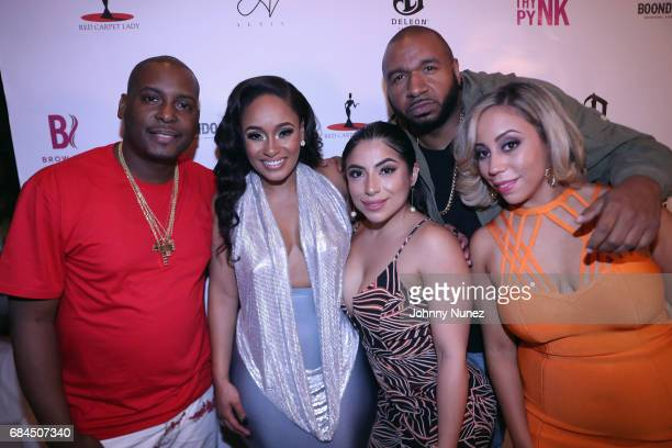 Self Tahiry Jose DJ Suss One Jessenia Vice and Alyi V attend Tahiry Jose's Birthday Dinner on May 17 2017 in New York City