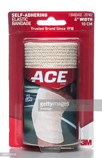 3m ace self-adhering elastic bandage package - elastic bandage stock photos and pictures