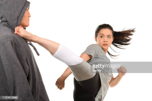 self-defense flow - combat sport stock pictures, royalty-free photos & images