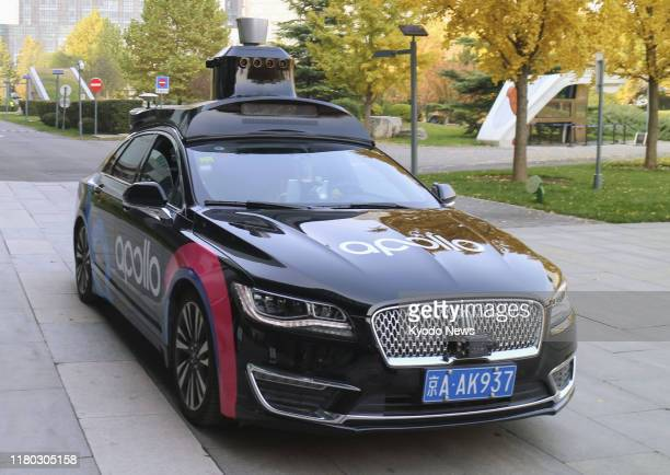 Self-driving car under development by Chinese internet search giant Baidu Inc. Is shown to the media in Beijing on Nov. 5, 2019.