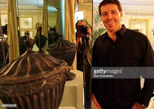 Selfhelp king Tony Robbins at the Peninsula Hotel in Beverly hills on JULY 14 2010 He is the star of a new NBC reality series Breakthrough in which...