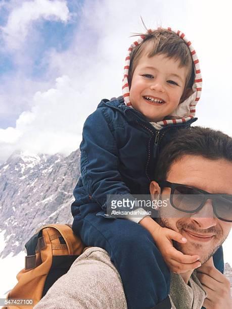 Selfie auf die Berge