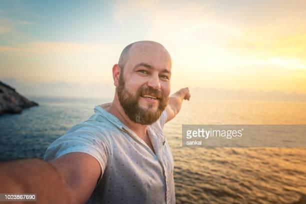 Selfie at the sea