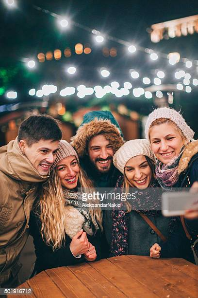 Selfie during Christmas market