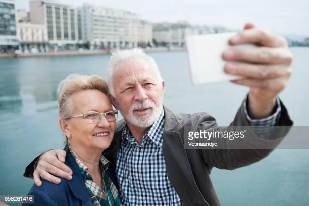 Selfie für Erinnerungen