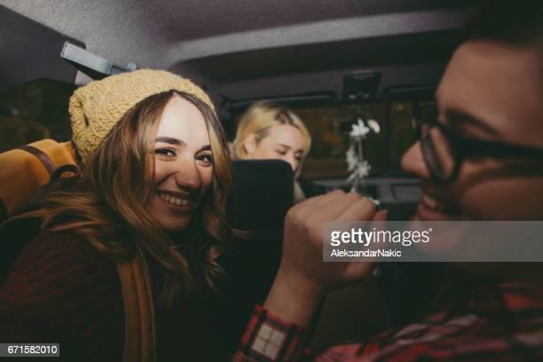 Selfie in a car