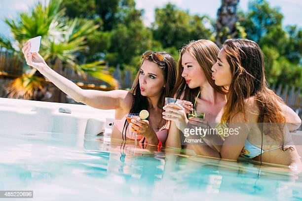 Selfie in a Hot Tub