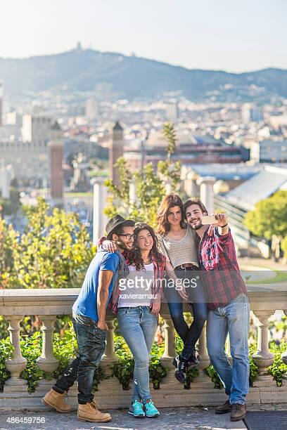 Selfie à Barcelone