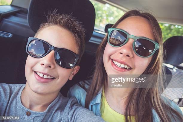 Selfie in car