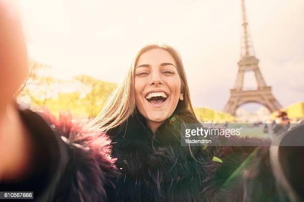 パリで自分撮り