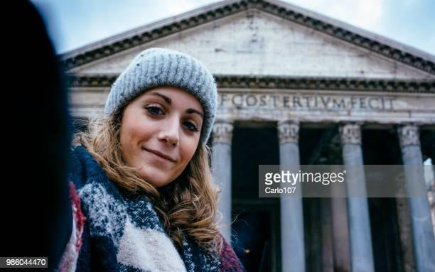 冬のローマの Selfie