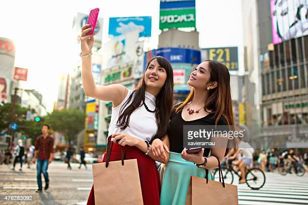 Selfie in Shibuya crossing,Tokyo