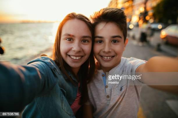 Selfie in sunset