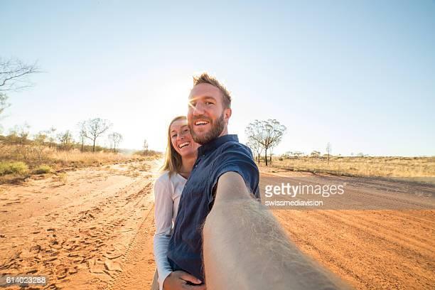 Selfie in the Australian outback