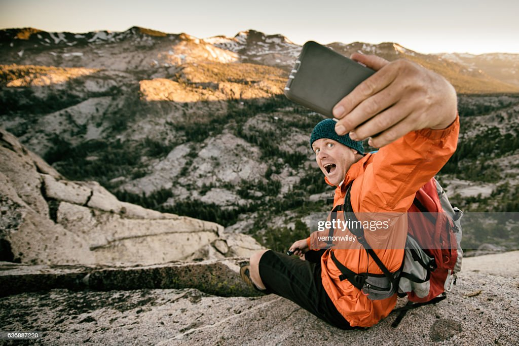 Selfie in the backcountry : Photo