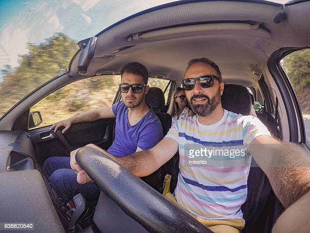 selfie in the car - four people in car stock pictures, royalty-free photos & images