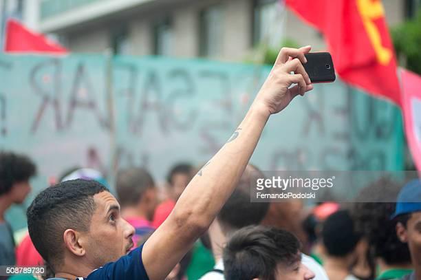Selfie in the crowd