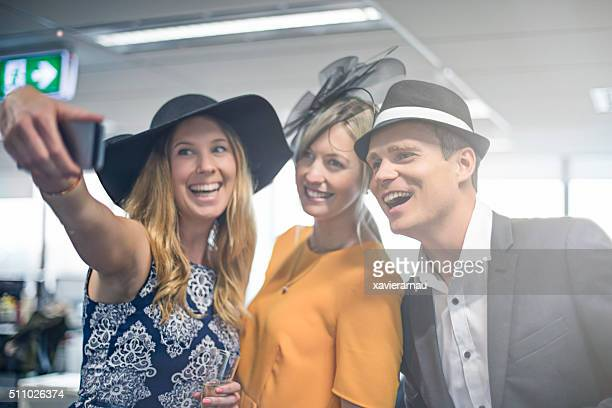 Selfie moment from the Melbourne Cup party