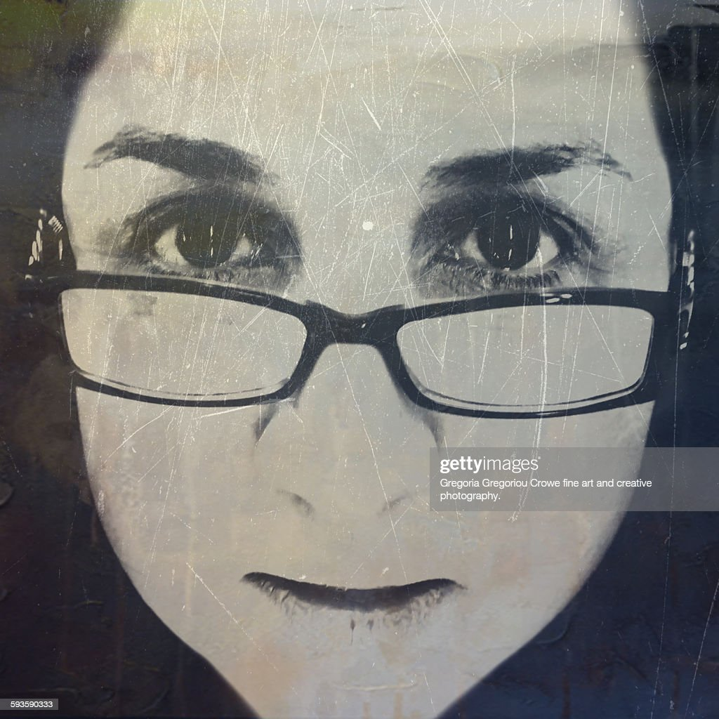Selfie Of Female Headshot : Stock Photo