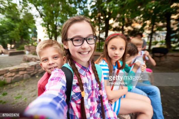 Selfie of school friends