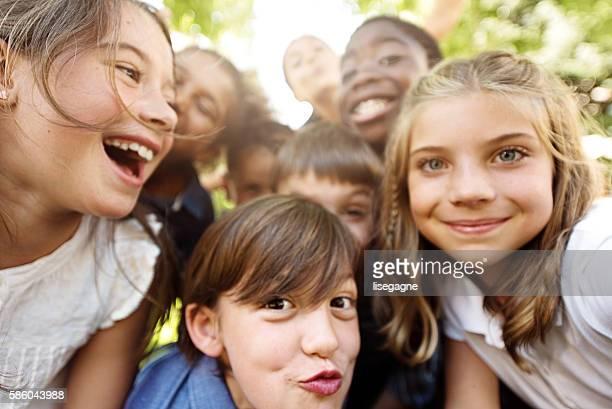 Selfie of school kids