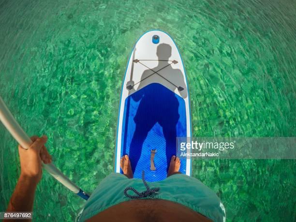 Selfie on a paddle board