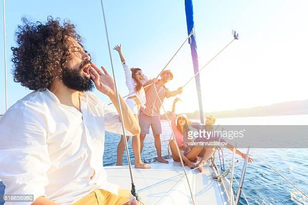 Selfie sur un Yacht