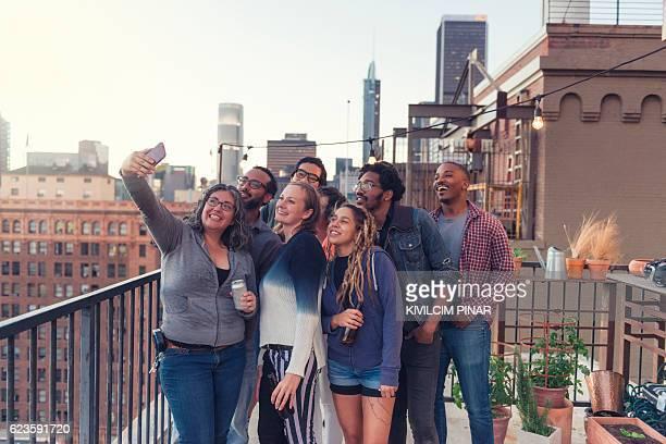 Selfie on Los Angeles roof top