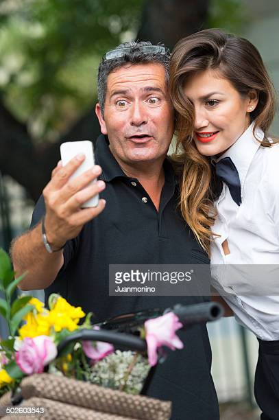 selfie - sugar daddy stock photos and pictures