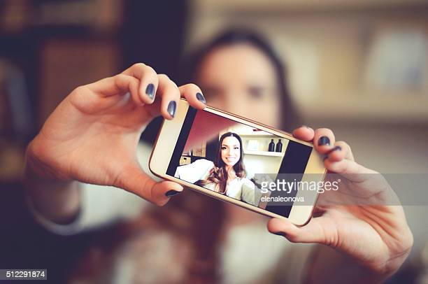 selfie - photo messaging stock photos and pictures
