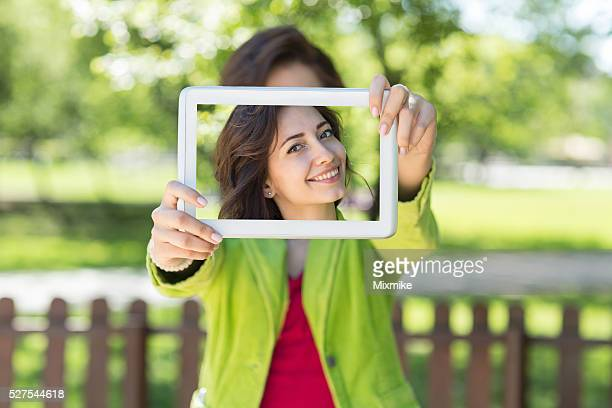 selfie - woman long tongue stock photos and pictures