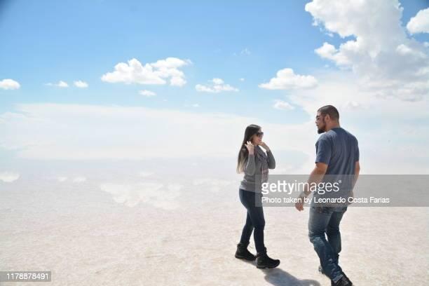 selfie portrait at desert - leonardo costa farias stock photos and pictures