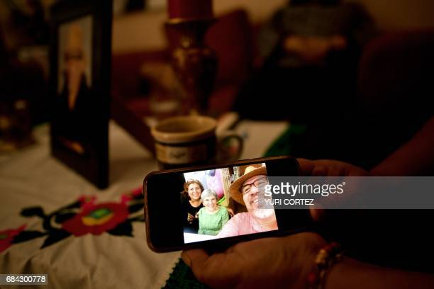 A selfie taken by murdered Mexican journalist Javier Valdez is shown by his widow in Culiacan Sinaloa state Mexico on May 17 2017 Media and rights...