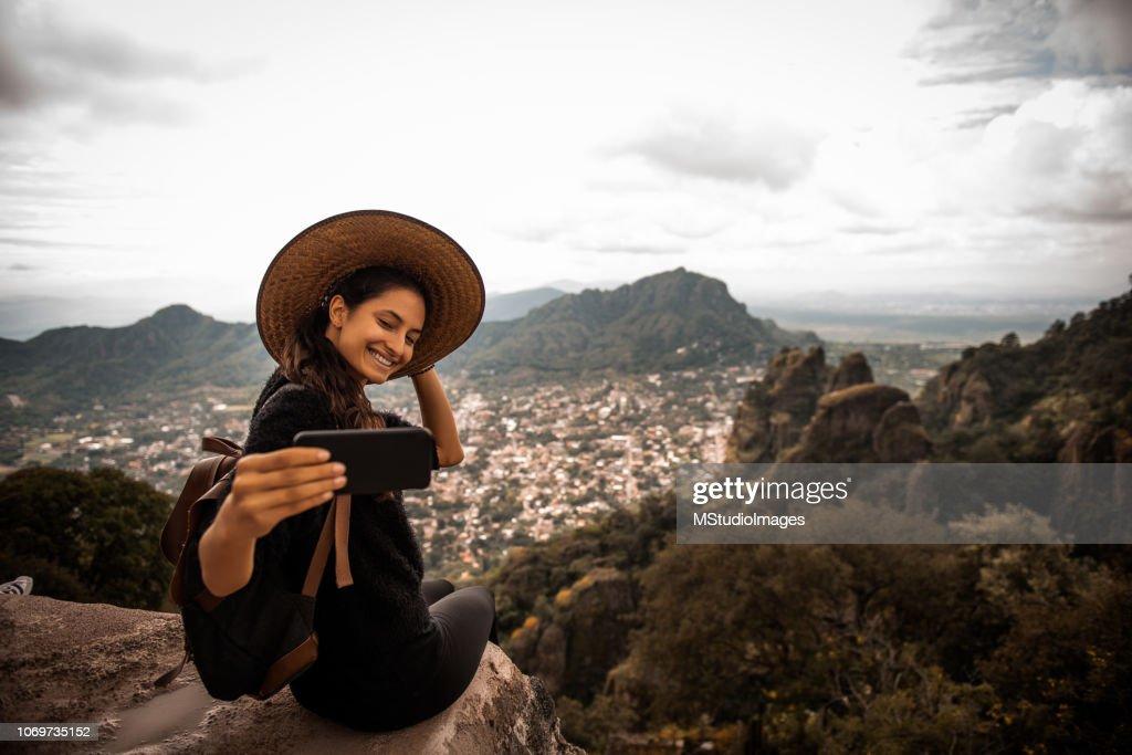 Selfie time. : Stock Photo