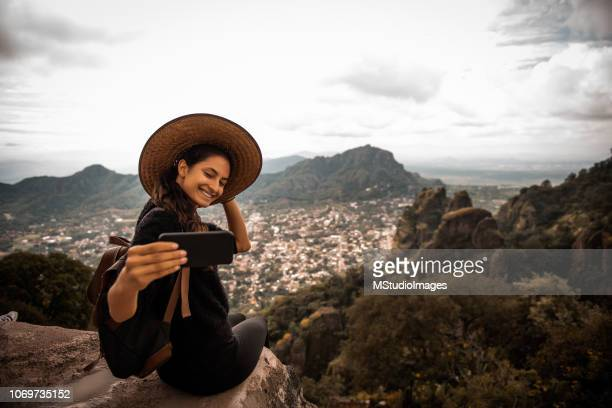selfie time. - influencer stock pictures, royalty-free photos & images