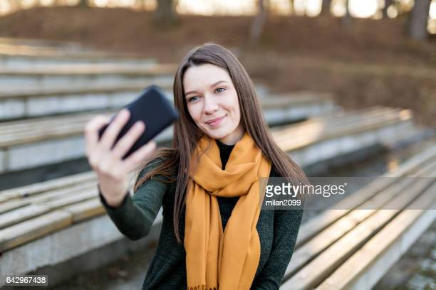 selfie time - sending stock photos and pictures